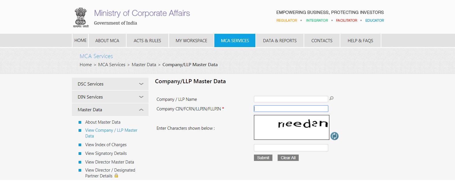 Search Company, LLP master data